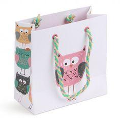 Owls small gift bag