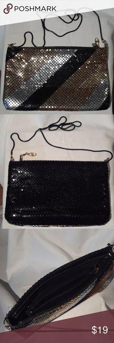 Vintage black,gold&silver sequin shoulder purse. Brand new vintage black,gold&silver Bags Mini Bags
