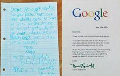 11) Uma vez, a filha de um funcionário escreveu a Google para perguntar se o pai poderia ter o dia de folga para o seu aniversário.  Deram-lhe toda a semana!