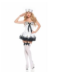 kinda like this sailor costume too again this is obviously not what i would look like in it hahaha  sc 1 st  Pinterest & First Mate Sexy Womenu0027s Sailor Costume Adult Sailor Fancy Dress ...