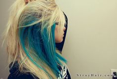 Blue and blonde hair.  My newest hair obsession.