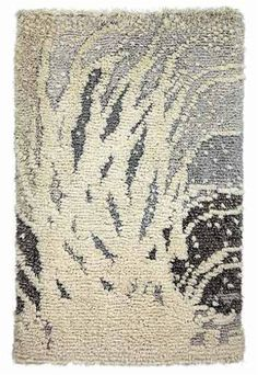 Isot ryijyt Rya Rug, Small Tapestry, Animal Rug, Nordic Art, Art Textile, Textiles, Canadian Art, Woven Wall Hanging, Tapestry Weaving