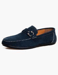 Modello Dito - 45 EU - Cuero Italiano Hecho A Mano Hombre Piel Azul Marino Zapatos Vestir Oxfords - Cuero Cuero Suave - Encaje kHP3wxXZN