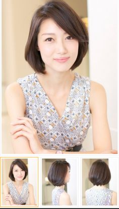 Toc mẫu Bob Hairstyles For Round Face, Short Hair Styles For Round Faces, Short Hair Cuts For Women, Short Bob Hairstyles, Hairstyles With Bangs, Medium Hair Styles, Haircuts, Cool Hairstyles, Japanese Short Hair