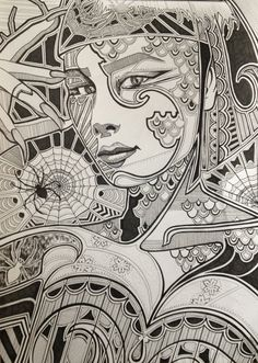 Mysterious Skin Intricate Original Ink Drawing Not by diedododa