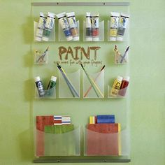 """""""Paint even more fun with your fingers"""" vinyl lettering hobby or craft room wall decor at Lacy Bella Designs www.lacybella.com"""