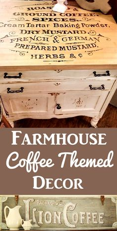 Farmhouse Coffee Themed DIY Projects - The Graphics Fairy - Farmhouse Coffee Themed DIY Projects 9 DIY Farmhouse Coffee Themed Décor Projects! These wonderful Painted Furniture and Sign Ideas are perfect for a Farmhouse Style Home. Rustic Furniture, Painted Furniture, Diy Furniture, Farmhouse Furniture, Unique Furniture, Furniture Projects, Furniture Outlet, Discount Furniture, Luxury Furniture