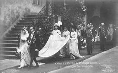 Wedding of King Manuel II of Portugal and Princess Augusta Vitória Hohenzollern-Sigmaringen, on September Photos can be found here: Casamento de S. El-Rei D. Manuel II More photos (without Royal Brides, Royal Weddings, My King, King Queen, Royal Family Lineage, Portuguese Royal Family, History Of Portugal, Casa Real, Victoria