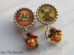 Fall Scarecrow Fun Retractable Badge Reel by AintThatSomethin, $11.00