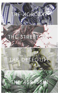 Sons of the father -- Dick Grayson, Jason Todd, Tim Drake, and Damian Wayne
