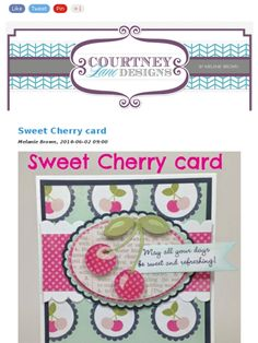 Check out this Mad Mimi newsletter this cherry card is adorable!