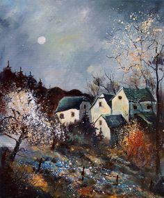 "Saatchi Art Artist Pol Ledent; Painting, ""moonshine 569060"" #art"
