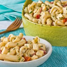Recipe:  Pasta Salad with Smoked Gouda, Roasted Red Peppers & Artichoke Hearts    Recipes from The Kitchn
