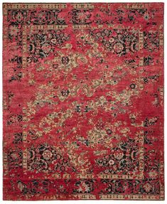 Jan Kath combines traditional Persian ornamentation with his trademark distresse… Matilda, Minimalist Design, Modern Design, Jan Kath, Classical Elements, Fashion Artwork, Rug Texture, Silk Material, Machine Made Rugs