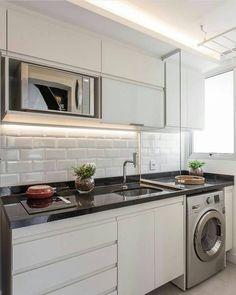 cozinha e lavanderia integrada
