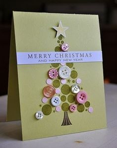 DIY Christmas Cards - Glamorous Tree - Click pic for 25 Holiday Crafts