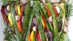 Summer Vegetable Tian in a Zucchini Fan Vegetable Tian, Vegetable Sides, Vegetable Recipes, Vegan Gluten Free, Vegan Vegetarian, Zucchini, Potato Rice, Healthy Grains, Healthy Sugar