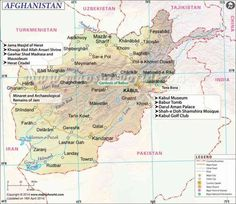 cool Afghanistan Map
