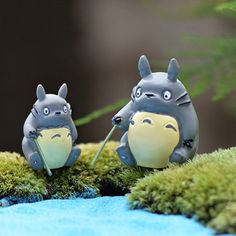 Hayao Miyazaki Resin Totoro Fishing Creative Craft Micro Fairy Garden Decoration Miniature Figures Dollhouse Kits Accessories