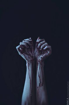 Stained Hands by MKAphotography Red Aesthetic, Death Aesthetic, Character Aesthetic, Bring Me The Horizon, Blood Wallpaper, Wattpad, Sad Art, Dark Photography, Dark Fantasy