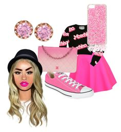 """Pink it up"" by swagforever ❤ liked on Polyvore featuring UNIF, Moschino, Converse, Forever New, Chanel and Betsey Johnson"