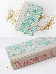 book made into a clutch with tutorial!