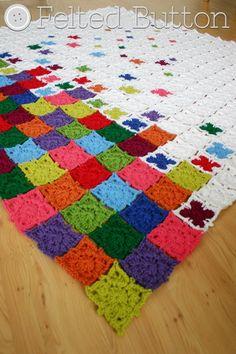 Crochet Pattern Rainbow Sprinkles Blanket Afghan by FeltedButton