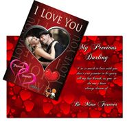 I Love You Greeting Card 6 X 8 Inches Gifts for Sister on Bhai dooj