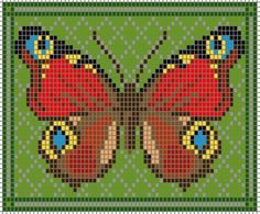 free butterfly knitting and beading charts#