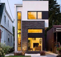Узкий дом, планировка, дизайн, фото