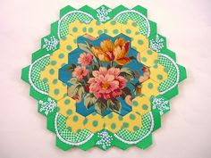 Frou Frou Fleur - one of Rachaeldaisy's Sis Boom Hexagons. Amazing collection she's got going!