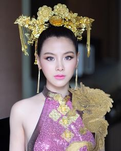 baifernbah Baifern Pimchanok Luevisadpaibul. Beautiful Eyes, Gorgeous Women, Beauty Portrait, Vogue Magazine, Woman Crush, Traditional Dresses, Modern Fashion, Girl Crushes, Asian Woman