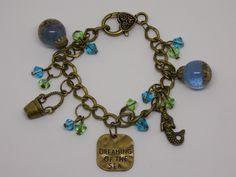 Seashore Bracelet, Dreaming Of The Sea Bracelet, Real Beach Sand, Nautical Bracelet, Seaside, Seaglass Bracelet, Beach Jewelry, Beach Lover, by artyResin on Etsy