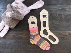Wooden baby sock blockers / Sheep