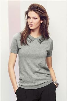 Buy Embellished Collar Knit from the Next UK online shop