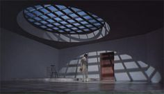 """Set from """"Doctor No"""" designed by Ken Adams---- reminiscent of the Ordos Art and City Museum -->"""