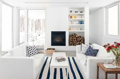 bright, crisp living room // Blue Hills home by La SHED architecture