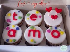 Best Cupcakes Amor Y Amistad Fondant Ideas Fondant Cupcakes, Fun Cupcakes, Cupcake Cookies, Oreo, Cupcakes Wallpaper, Healthy Cupcakes, Valentine Day Cupcakes, Naked Cake, Frosting Recipes