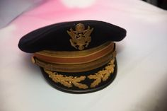 US Army Dress Cap Hat With bullion Captain Korea WWII era