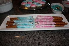 Gender revealing cute snacks