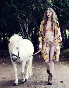 I'll just throw on my silk kimono and take my pony for a walk ... ya know the usual
