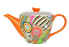 Bunt, Tea Pots, Ceramics, Retro, Tableware, Design, Circles, Household, Ceramica