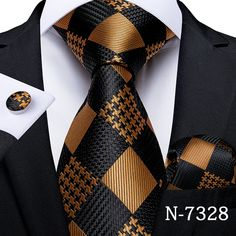 Gold Fashion, Mens Fashion, Fashion Suits, Mens Silk Ties, Cufflink Set, Wedding Ties, Tie Set, Tie And Pocket Square, Suit And Tie
