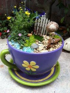 Jardín de Hadas en  una Taza de té                                                                                                                                                     Más