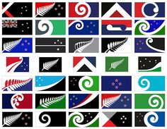 new zealand flag design – long list of 40 proposals unveiled