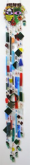 Cindy Fused Glass Art Wind Chime