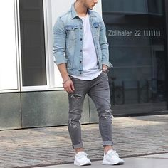mens_fashion - 51 Chic White Sneaker Outfit You've Ever Laid Eyes On White Sneakers Outfit, Sneakers Fashion, Women's Sneakers, Sneakers Sale, Black Sneakers, Casual Wear, Casual Outfits, Fashion Outfits, Look Man