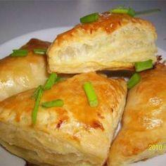 Bladerdeeghapjes met feta