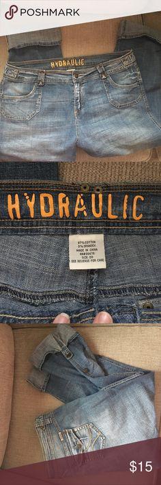 Hydraulic Jean Capris Adjustable Capri length jeans--stretch denim! Size 20 Hydraulic Jeans Ankle & Cropped
