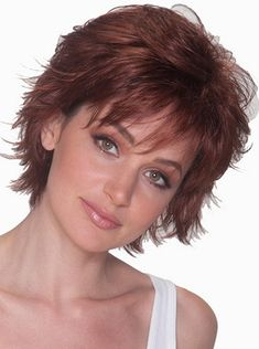 Wigsis provides variety of Good Auburn Layered Straight Short Wigs with good customer service and fast shipment, including short curly wigs,short brown wig for customer. Short Hair Cuts For Women Pixie, Short Hair With Layers, Pixie Cuts, Short Pixie, Wavy Pixie, Shag Hairstyles, Straight Hairstyles, Short Shaggy Haircuts, Pixie Haircuts